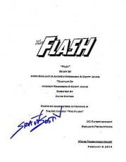 Grant Gustin Signed The Flash Script Pilot Episode Full 62 Page Autograph Cw Coa