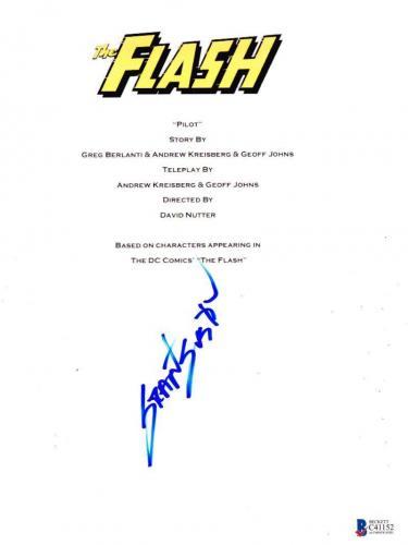 Grant Gustin The Flash Cw Signed Full Pilot Script Authentic Autograph Bas Coa