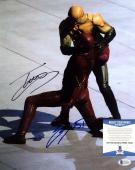 Grant Gustin & Tom Cavanagh Signed DC Comics 'The Flash' 11x14 Photo BAS C16202