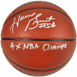 "Horace Grant Chicago Bulls Autographed Indoor Outdoor Basketball with ""4X NBA Champs"" Inscription"