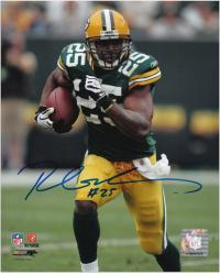 Ryan Grant Green Bay Packers Autographed 8'' x 10'' Green Uniform Photograph - Mounted Memories