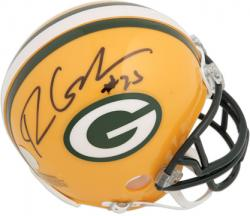 Ryan Grant  Autographed Mini Helmet - Riddell Mounted Memories