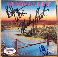 Grateful Dead 3x signed CD Cover Dead Set PSA/DNA Weir Hart Lesh