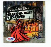 Grateful Dead 3x signed CD Cover Fillmore East 1969 PSA/DNA Weir Hart Phil Lesh