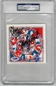 Grateful Dead 3x signed CD Cover History of Vol 1 PSA/DNA Weir Hart Lesh