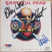 Grateful Dead 3x signed CD Cover Reckoning PSA/DNA Weir Hart Lesh