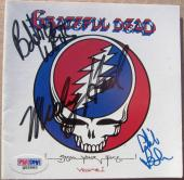 Grateful Dead 3x signed CD Cover Steal Your Face PSA/DNA Weir Hart Lesh