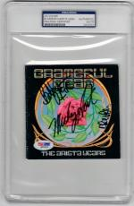Grateful Dead 3x signed CD Cover The Arista Years PSA/DNA Weir Hart Lesh
