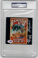 Grateful Dead 3x signed CD Cover Without a Net PSA/DNA Weir Hart Lesh