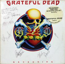Grateful Dead (6) Jerry Garcia, Weir, Lesh, +3 Signed Album Cover W/ Vinyl BAS
