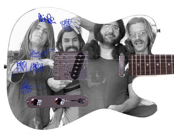 Grateful Dead Facsimile Signature  Custom Graphics Guitar