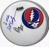 Grateful Dead Bob Weir Bill Kreutzman Autographed Drumhead UACC RD AFTAL