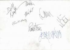 Grateful Dead Group Signed Autographed 11x17 Poster Garcia Weir Beckett BAS