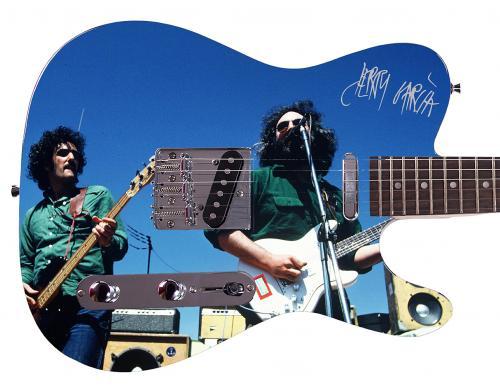 Grateful Dead Jerry Garcia Autographed Signed Custom Graphics Guitar