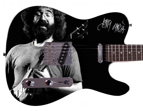 Grateful Dead Jerry Garcia Facsimile Signature  Custom Graphics Guitar