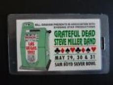 Grateful Dead Steve Miller Vegas 1992 Tour Laminate Backstage Pass Band Owned