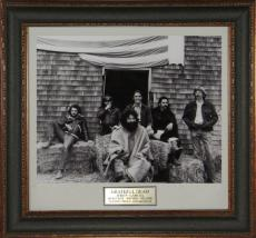 Grateful Dead unsigned Black & White 11x14 Photo Leather Framed (Jerry Garcia)
