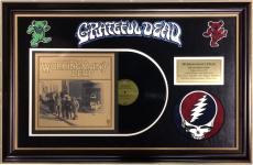 Grateful Dead Workingman's album framed logo patch collage 37x25 Jerry Garcia