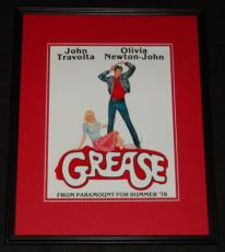 Grease Framed 11x14 Photo Poster John Travolta Olivia Newton John
