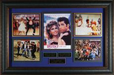 Grease John Travolta Olivia Newton-John Signed Movie Display