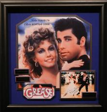 Grease John Travolta Olivia Newton-John Signed Photo Framed