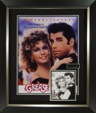 Grease John Travolta Cast Signed Movie Poster Display Framed