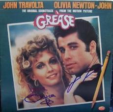 GREASE signed JOHN TRAVOLTA & OLIVIA NEWTON JOHN we go together - AUTHENTICATED