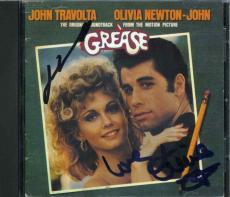 Grease Travolta Newton-John Autographed Signed CD Authentic PSA/DNA LOA AFTAL