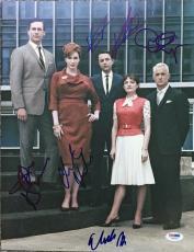 GREAT SHOW Mad Men Signed CAST 11x14 Photo By 5 Jon HAMM Christina HENDRICKS PSA