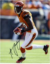 "A.J. Green Cincinnati Bengals Autographed 8"" x 10"" Ball in Both Hands Photograph"