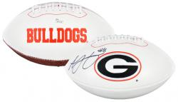 A.J. Green Autographed Georgia Bulldogs Logo Football