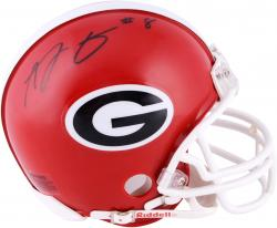 A.J. Green Georgia Bulldogs Autographed Riddell Mini Helmet - Mounted Memories