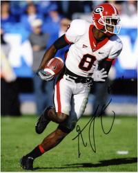 "A.J. Green Georgia Bulldogs Autographed 8"" x 10"" Running with Ball Photograph"