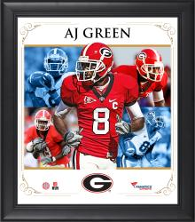 AJ Green Georgia Bulldogs Framed 15'' x 17'' Core Composite Photograph
