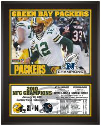 Green Bay Packers 2010 NFC Conference Champions Sublimated 12'' x 15'' Photo - Mounted Memories