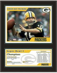 "Green Bay Packers 12"" x 15"" Sublimated Plaque - Super Bowl I"