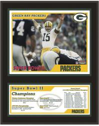 """Mounted Memores Green Bay Packers Super Bowl III 12"""" x 15"""" Sublimated Plaque"""