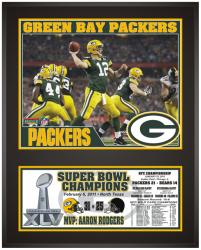"Green Bay Packers Super Bowl XLV Champions Sublimated 12"" x 15"" Plaque"