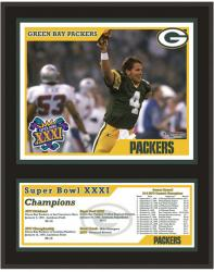 """Green Bay Packers 12"""" x 15"""" Sublimated Plaque - Super Bowl XXXI"""