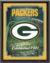 "Green Bay Packers Team Logo Sublimated 10.5"" x 13"" Plaque - Mounted Memories"