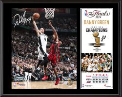 "Danny Green San Antonio Spurs 2014 NBA Finals Champions Sublimated 12"" x 15"" Plaque"