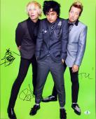 Green Day (3) Armstrong, Tre Cool & Dirnt Signed 16X20 Photo BAS #A02020