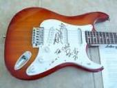 Green Day All 3 Band Signed Autographed Electric Guitar PSA Certified