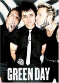 Green Day Autographed Facsimile Signed Black Suit Poster