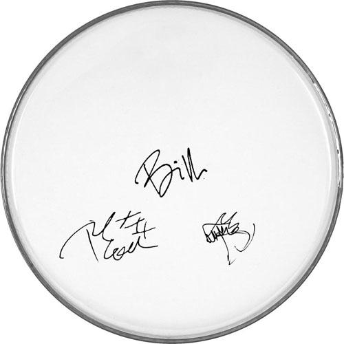 Green Day Autographed Facsimile Signed Clear Drumhead Billie Joe Armstrong Plus