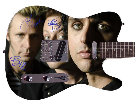Green Day Facsimile Signature  Custom Graphics Guitar