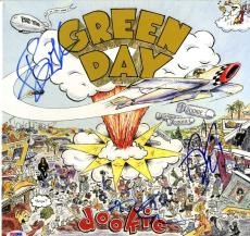 Green Day Greenday Signed Autographed Dookie Album Vinyl LP PSA Billie Joe +