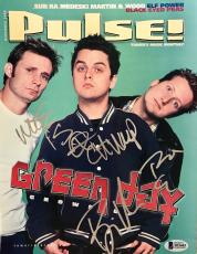 Green Day (November 2000) BAND Signed NL PULSE Magazine BECKETT BAS