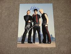 Green Day Signed 11x14 Photo Coa Billy Joe Armstrong Tre Cool Mike Dirnt 1