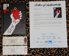 GREEN DAY signed autographed AMERICAN IDIOT book CD tickets PSA DNA COA ALL 3